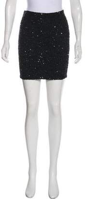 Haute Hippie Sequin Mini Skirt