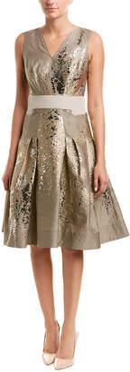 Carolina Herrera Wool & Silk-Blend A-Line Dress
