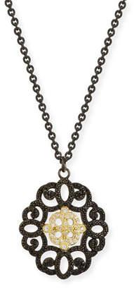 Armenta Old World Filigree Pendant Necklace with Diamonds & Black Sapphires