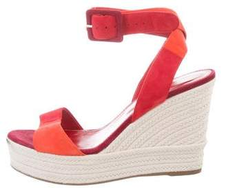 Sergio Rossi Ankle Strap Espadrille Wedges