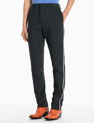 Calvin Klein striped woven cotton stretch pants