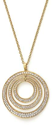 """Ippolita 18K Yellow Gold Glamazon® Stardust Three-Ring Concentric Necklace with Diamonds, 20.5"""""""