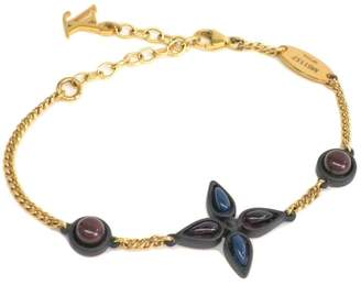 Louis Vuitton Gold Tone Hardware Carbon Resin Monogram Bracelet