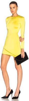 Cushnie et Ochs Asymmetrical Hem Long Sleeve Mini Dress