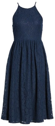 Women's Soprano High Neck Lace Midi Dress $52 thestylecure.com