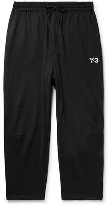 Y-3 Sashiko Wide-Leg Loopback Cotton-Jersey Sweatpants
