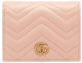 32e1ae333b1 Gucci Marmont Quilted Leather Bi Fold Wallet - Womens - Light Pink