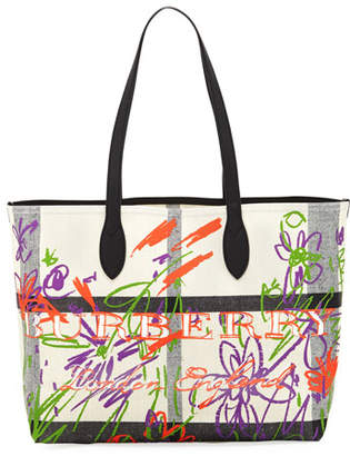Burberry Medium Doodle Canvas Tote Bag