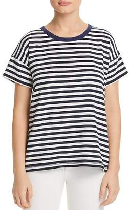 Rag & Bone Kat Split-Back Striped Tee