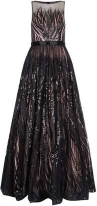Jovani Sheer Sequin Gown