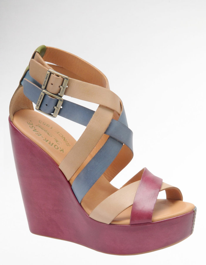 KORKEASE Hailey Leather Wedge Sandals