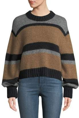 Veronica Beard Magda Striped Alpaca Pullover Sweater
