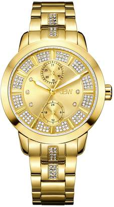 JBW Women's Lumen Diamond 18k gold-plated stainless-steel Watch