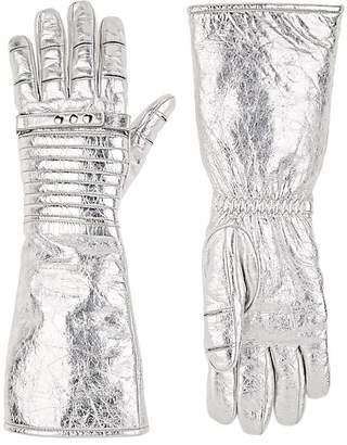 Calvin Klein Women's Long Leather Gloves