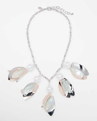 Express Pearl Cluster Statement Necklace