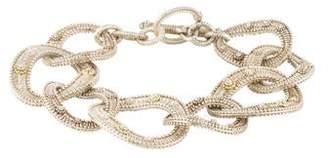 Judith Ripka Two-Tone Textured Link Bracelet