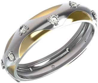 JewelsForum 0.24 Carat Diamond Ring for Women with 14k Dual Tone Yellow & White Engagement Wedding Band for Her (Colour HI Clarity I)