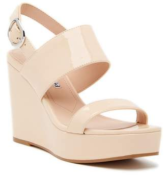 Charles David Jordan Patent Leather Wedge Platform Sandal
