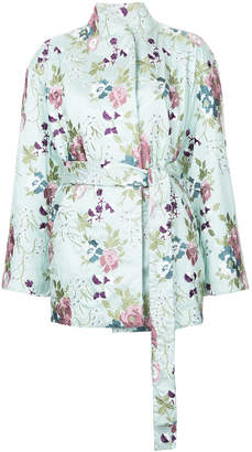 N Duo embroidered floral kimono jacket