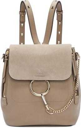 Chloé Grey Medium Faye Backpack $1,990 thestylecure.com