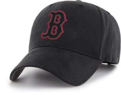 BOSTON RED SOX MLB Boston Red Sox Black Mass Basic Adjustable Cap/Hat by Fan Favorite