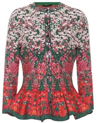 Alexander McQueen Silk-blend jacquard cardigan