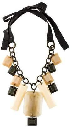 Paule Ka Resin & Ribbon Collar Necklace