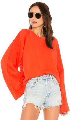 7 For All Mankind Flare Sleeve Crop Sweatshirt