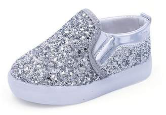 Bumud Boys Girls Light up Sequins Shoes Slip-On Flashing LED Sneakers Casual Loafers Flat (Toddler/Little Kid)