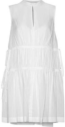 Derek Lam 10 Crosby Embroidered Cotton-Gauze Mini Dress