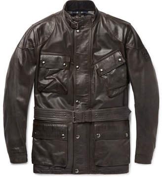 Belstaff Panther Slim-fit Belted Leather Jacket