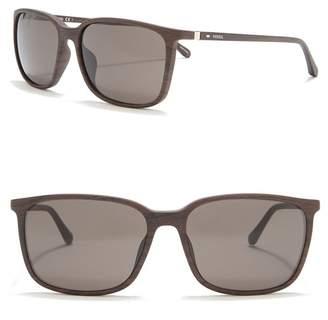 Fossil 57mm Square Sunglasses