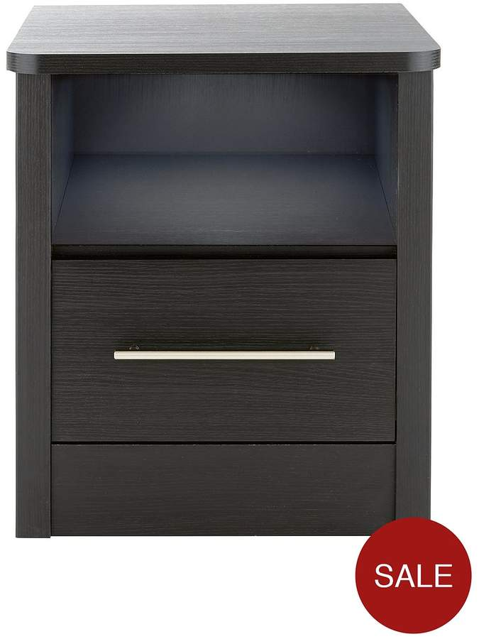 New Liberty Ready Assembled 1 Drawer Bedside Chest With Light