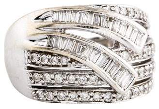 Ring 14K Diamond Wide Band