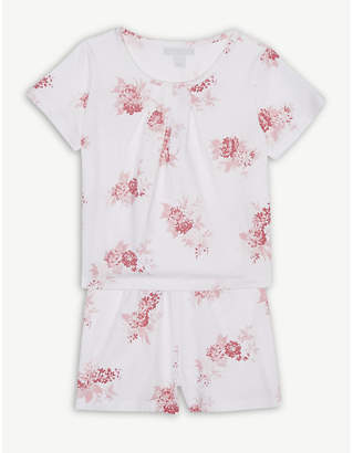 The Little White Company Floral print cotton pyjamas 1-6 years