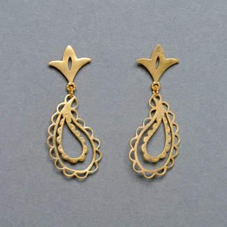 Leila Swift Paisley Scalloped Earrings