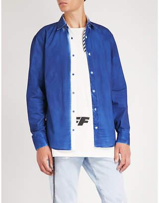Off-White Logo-trimmed regular-fit cotton shirt