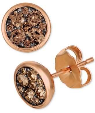 LeVian Le Vian Chocolatier® Diamond Cluster Stud Earrings (1/2 ct. t.w.)
