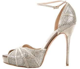 Jimmy Choo Ankle Strap Glitter Sandals