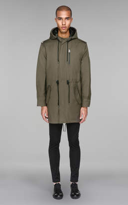 Mackage ARAV Hooded water-resistant 2-in-1 twill trench coat