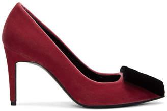 Pierre Hardy Pink Velvet Obi Heels