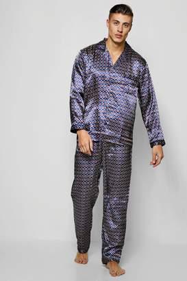 boohoo Satin Pyjama Set