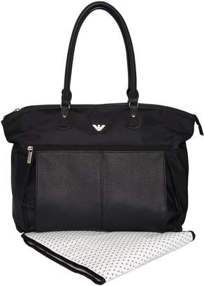 Armani Junior Faux Leather & Nylon Changing Bag