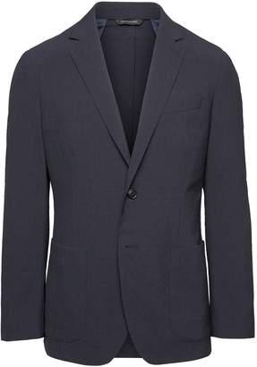 Banana Republic Slim Smart-Weight Performance Wool Blend Seersucker Suit Jacket
