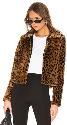 by the way. Casey Leopard Faux Fur Coat