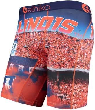 Ethika Unbranded Men's Orange Illinois Fighting Illini All-Over Print Boxer Briefs