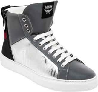 MCM Men's Reflective High Top Sneakers