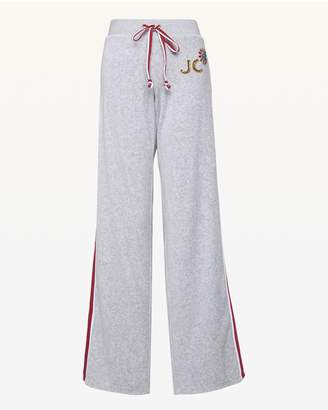 Juicy Couture Stacked JC & Flower Velour Mar Vista Pant