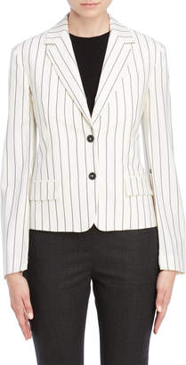 Jil Sander Off White Striped Two-Button Blazer