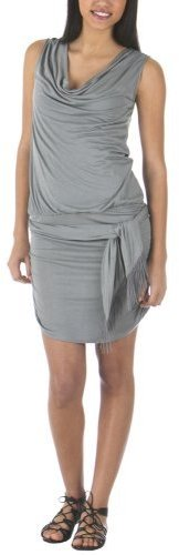 Go International® Drape Dress with Belt - Retreat Gray